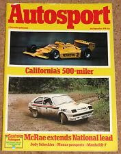 Autosport 6/9/79* MONDELLO F3 - TWR MAZDA RX7 POSTER - GROUP 44 - LINDISFARNE
