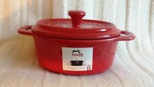 Staub France Oval Mini Cocotte with Lid - Red - New