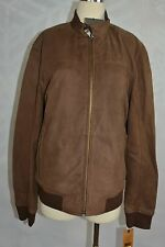 Cole Haan Brown Lambskin Leather Zip front Jacket  NWD  size M