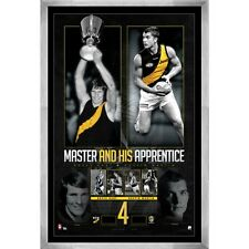 MASTER AND APPRENTICE HAND SIGNED FRAMED PRINT HART MARTIN RICHMOND TIGERS AFL