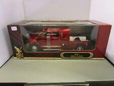 ROAD SIGNATURE 1/24 CANDY RED FORD F-650 SUPER CREWZER TRUCK NEW IN BOX
