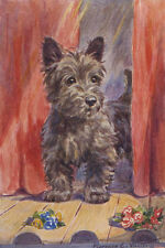 Scottish Terrier Dog 1940's by Eugene F Valter  LARGE New Blank Note Cards