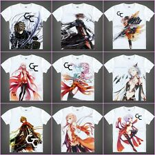 Anime Guilty Crown OUMA SHU/YUZURIHA INORI White Casual Costume T-shirt#QA01
