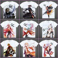 Anime Guilty Crown OUMA SHU/YUZURIHA INORI White Casual Costume T-shirt#QA01