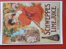 POSTCARD  ART ADVERT - SCHWEPPES LIME JUICE & OTHER CORDIALS