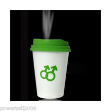 New Mini USB Coffee Cup Style Mist Anion Green Air Humidifiers Purifier