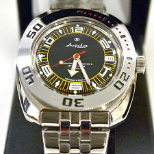 New VOSTOK Russian Amphibian 200m Diver Automatic Mens Watch #710394- US SELLER