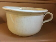 Vintage Porcelain Chamber Pot, Antique, White, Cracked As Is