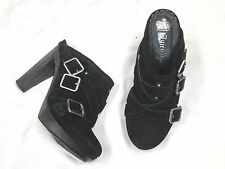 Juicy Couture black suede shoes   Buckle Accents  Size 7