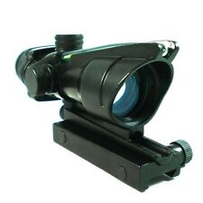 Hunting 1x32 Scopes Sight Real Fiber Optics Green Dot Rifle Scope 20mm rail