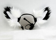 PAWSTAR NECOMIMI SLEEVES White FOX Animal cosplay Anime Ears Covers [WH] 3092