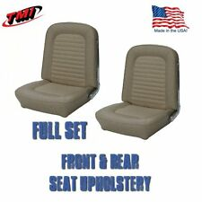 1966 Mustang FASTBACK Front & Rear Seat Upholstery Parchment - TMI - IN STOCK!!