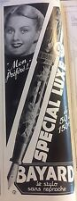 Vintage Advertising Bayard Special Luxe Pens French 1930s Original Ad