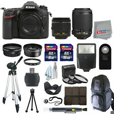 Nikon D7100 Digital SLR Camera + 4 Lens: 18-55mm VR + 55-200mm All You Need Kit