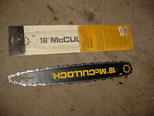 "18"" CHAINSAW BAR FOR MCCULLOCH 3214 3216 3516 3518 3816 3818 1101 120 130 340"