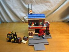 Lego Custom Set Train Crossing Cargo Warehouse Building Office Figs Modular City