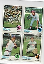 4-1973 topps lot angels 373 wright 289 oliver 154 jeff torborg 75 vada pinson