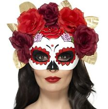 Halloween Fancy Dress Day of the Dead Rose Eye Mask by Smiffys