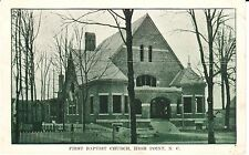 Early 1900's The First Baptist Church in High Point, NC North Carolina PC