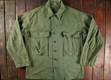 VTG 40s WWII WW2 US ARMY 13 STAR HBT UTILITY SHIRT JACKET MILITARY REG 40/42
