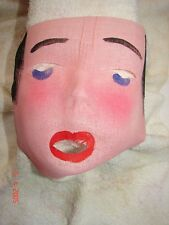 Vintage Gauze PRETTY LADY Halloween Mask # 36 - OLD STORE STOCK