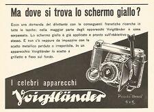 Y2483 Voigtlander - Ma dove si trova lo schermo giallo? - Pubblicità del 1942