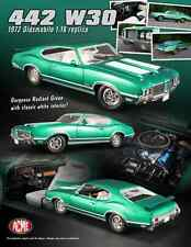 ACME 1:18 SCALE DIECAST METAL RADIANT GREEN 1972 OLDSMOBILE 442 W30