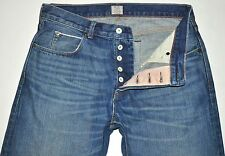 J Crew Men's Medium Blue SELVAGE Denim Vintage Slim Jeans 32 X 27 3/4 AWESOME