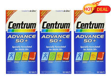 Centrum Advance 50+ 3 x 100 Tablets LONG DATE 2017