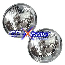 Pair 5 3/4 Clear Seal Beam+ GP Thunder H4 Halogen Headlight Headlamp Light Bulbs