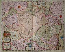 Arragonia Regnum - Königreich Aragon - Rare Karte von Blaeu 1645 - Spanien Spain