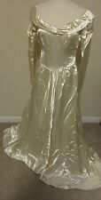 Vintage Ivory Rayon Wedding Gown