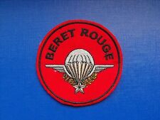 insigne militaire armée écusson tissu patch Béret Rouge Parachutistes PARA