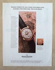 D537-Advertising Pubblicità-1997 - JAEGER-LE COULTRE MASTER DATE