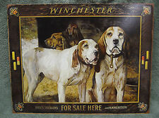 Winchester Shotguns Sold Here Ammunition Dogs Tin Metal Sign Decor