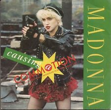 """Madonna Causing A Commotion Silver centre UK 45 7"""" sgl +Pic Slv +Jimmy Jimmy"""