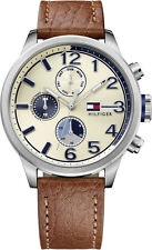 Tommy Hilfiger Casual Sport Leather Chronograph Mens Watch 1791239