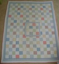 "Twin Patchwork Quilt Bedspread Coverlet 83 x 65"" w/ Square Pillow Sham"
