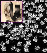 100pcs Rivet Carré Clous Pyramides DIY Accessoires-Argenté wh2n