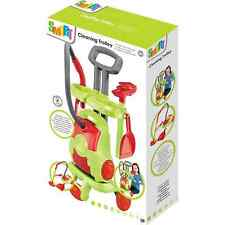 Toy Smart Cleaning Trolley with Electronic Vacuum Cleaner Brush Shovel Xmas Gift