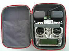 Transmitter case bag 4 JR Spektrum Futaba DJI car & aero compact & strong Red UK