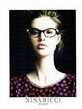 PUBLICITE ADVERTISING 126  2011  Nina Ricci  collection lunettes