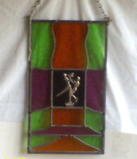 Vintage Stained Glass Hanging Window  / Used