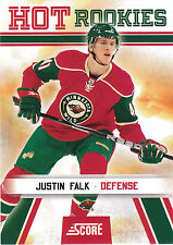 10/11 SCORE HOT ROOKIE RC #521 JUSTIN FALK WILD *3466