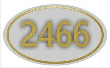 Personalized House Address Sign Plaque All Aluminum Shadowed Brass Numbers 13