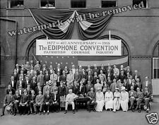 Photograph Thomas Edison Ediphone Convention 41st Anniversary  1918  8x10