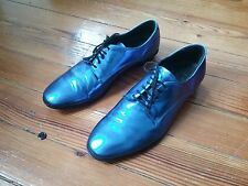 Lanvin x H&M metallic blue shoes! sz 8. Must Have Rare