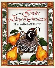 The Twelve Days of Christmas by Jan Brett (1989, Hardcover)