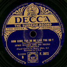 SPIKE HUGHES NEGRO ORCHESTRA Sweet Sue, just you / How come you do like me X2037