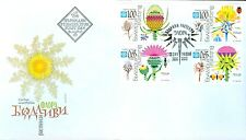 BULGARIA 2012 Flora Prickly flowers Bee Butterfly Beetle - first day - stamps